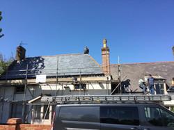 New roof finish