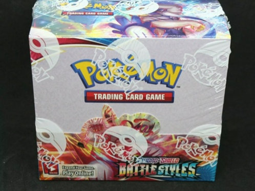POKEMON SWORD AND SHILED BATTLE STYLES 36 BOOSTER PACKS  SOCCER