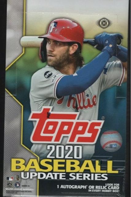 TOPPS UPDATE 2020 HOBBY BOX
