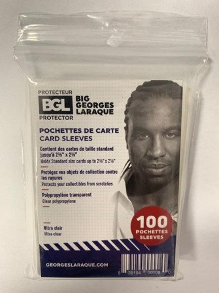 BIG GEORGES LARAQUE SLEEVES 100 SLEEVES (10 PACKS) = 1000 SLEEVES