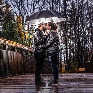Jennifer & Patrick Rain Photos