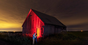 Night Portraits & City Lights // Celine & Scott