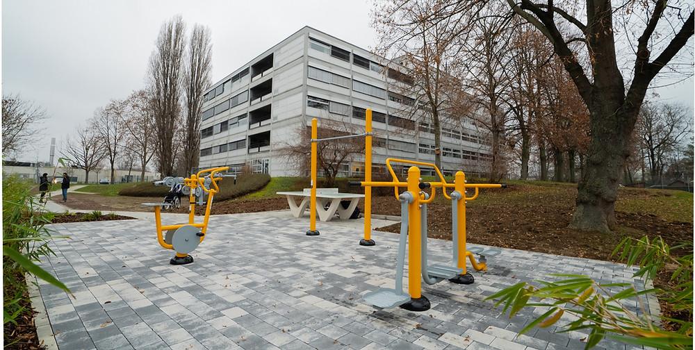 centre européen jeunesse parc fitness extérieur