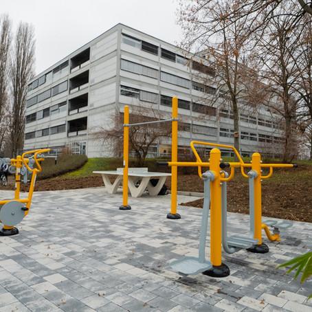 Le Centre Européen de la Jeunesse de Strasbourg et son parc Fitness Extérieur inclusif PMR