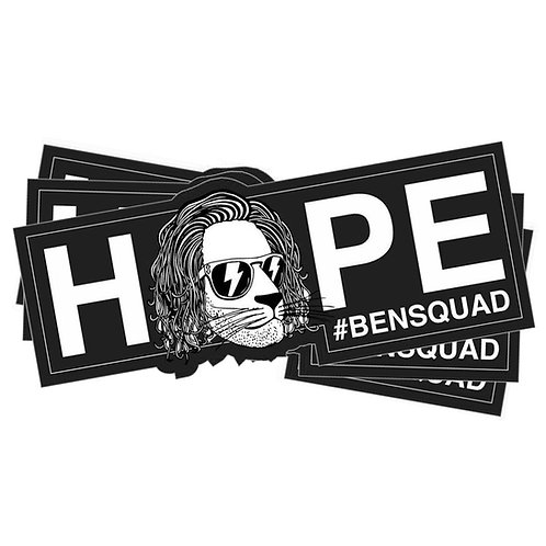 Bensquad HOPE Sticker Black x3