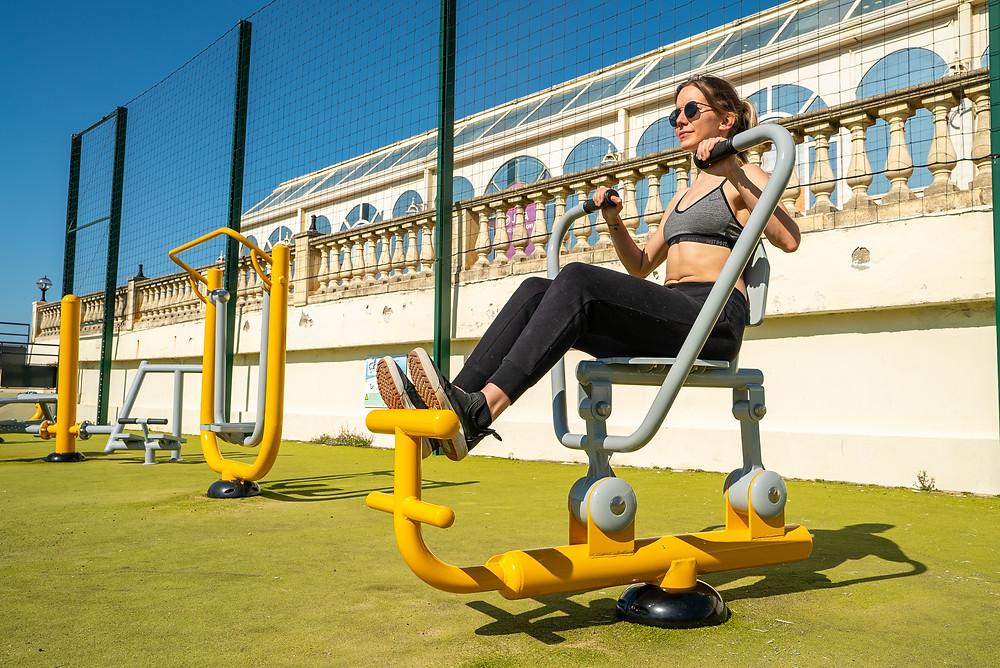 rameur fitness extérieur