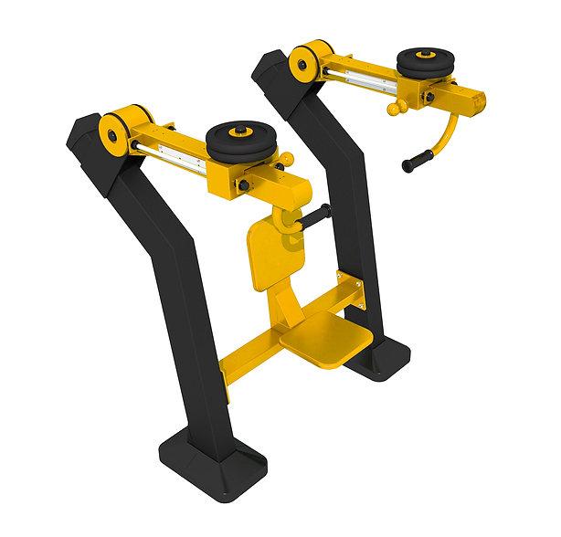 appareil musculation exterieur chest press