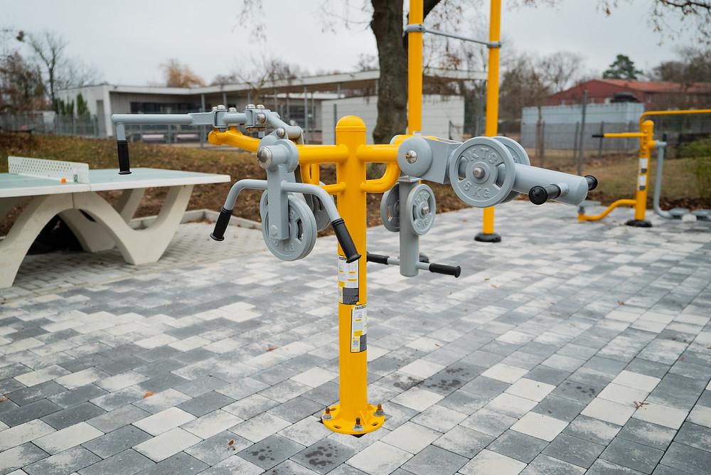 sport fitness extérieur PMR chaise roulante
