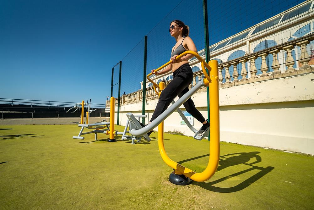 marcheur fitness extérieur