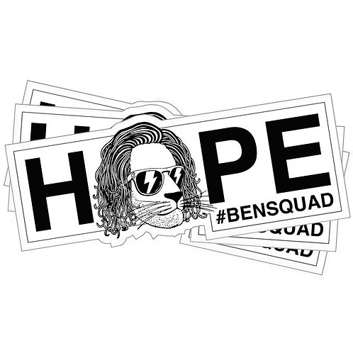 Bensquad HOPE Sticker White x3