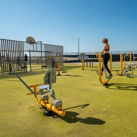 Nouveau parc de fitness en plein air en bord de mer au Tréport
