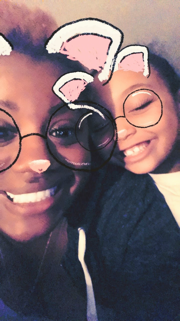 Snapchat silliness with my bonus baby