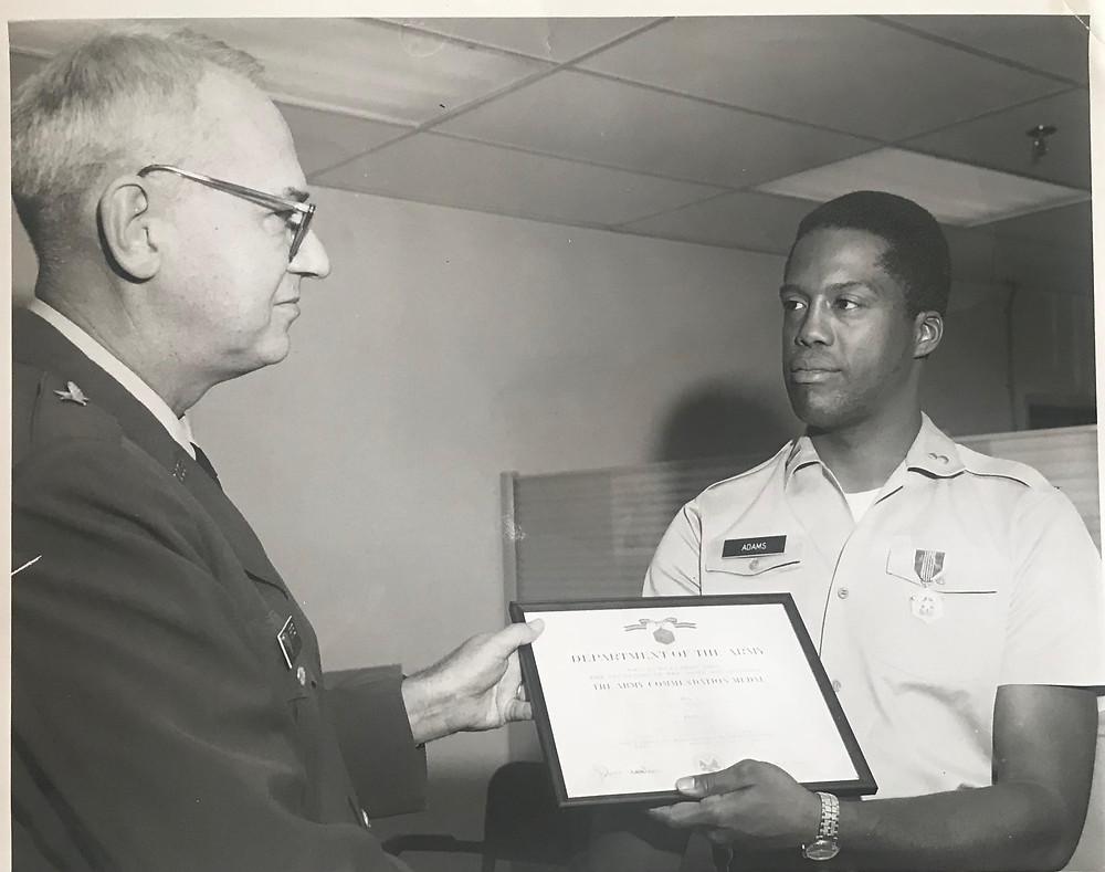 Dad being awarded post-Vietnam