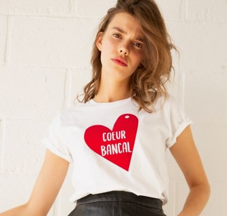 Tee shirt Coton BIO Coeur Bancal