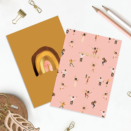 """POCKET NOTEBOOK DUO – """"BUTTERFLY & MONKEY"""" - ALL THE WAYS TO SAY"""