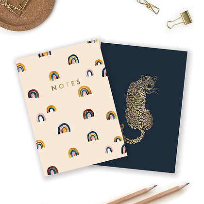 "POCKET NOTEBOOK DUO – ""LEOPARD & RAINBOW"" - ALL THE WAYS TO SAY"