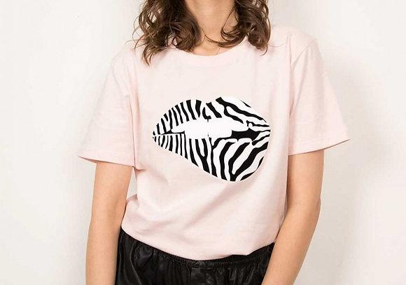 T-Shirt Martina Zèbre Rose FAUBOURG 54