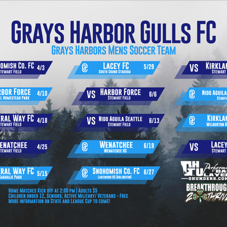 Gulls 2021 Schedule Released