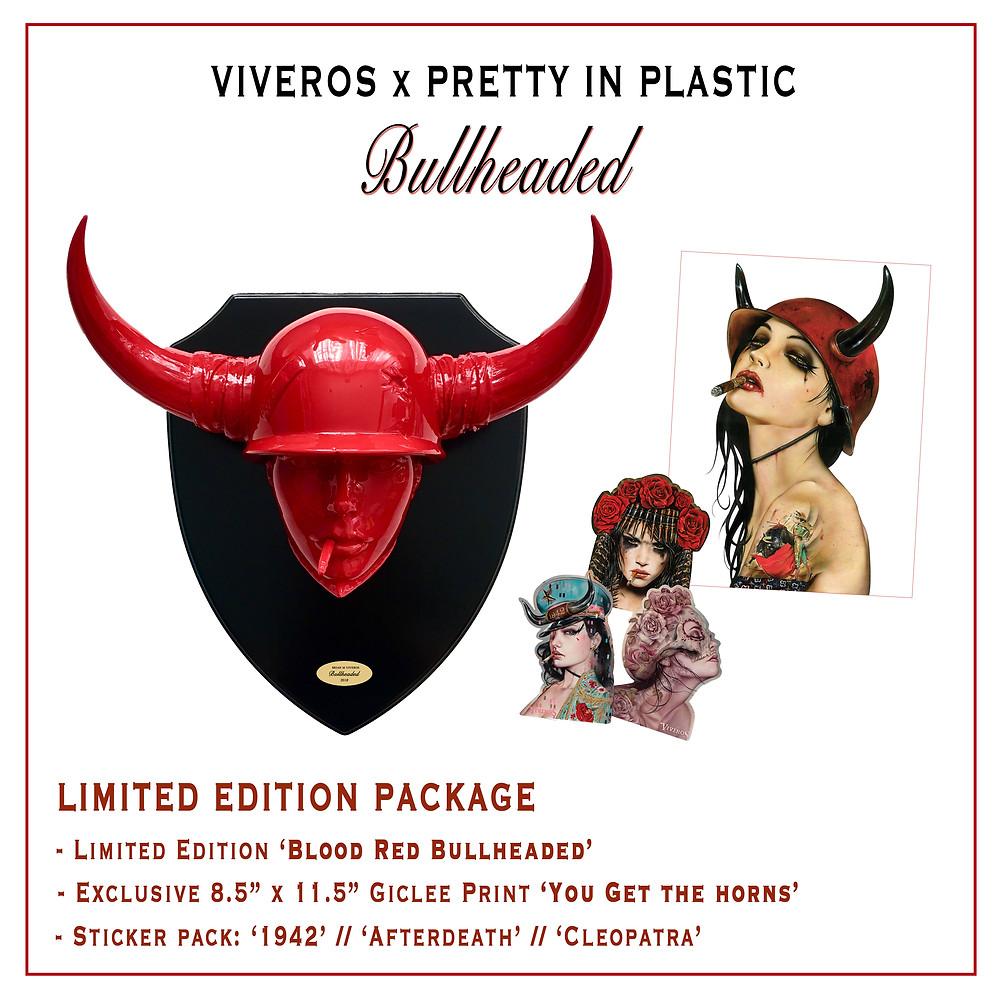 Viveros x Pretty in Plastic Mini Red Bullhead