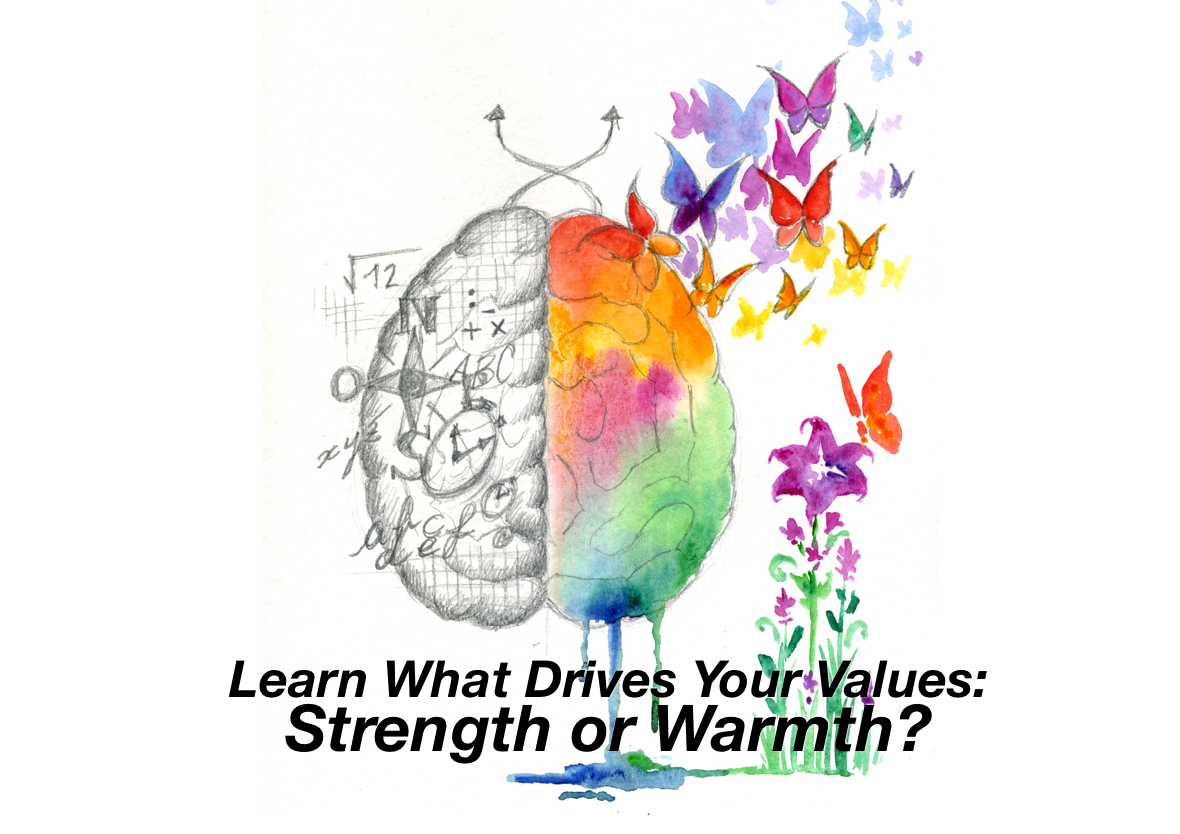 2 sides Strength Warmth brain pic