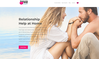 Relationship Help at Home website cover