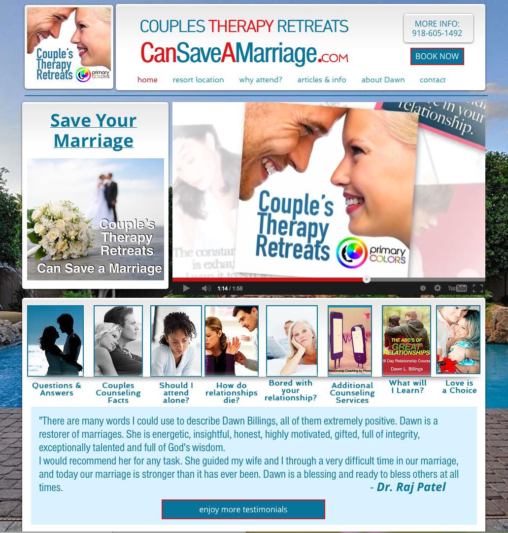 Couples Therapy Retreats