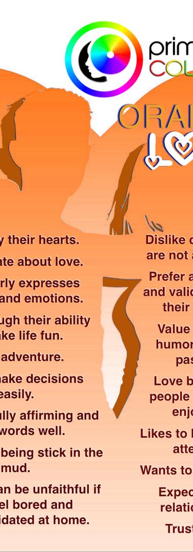 Orange Color Personality Relational Tendencies