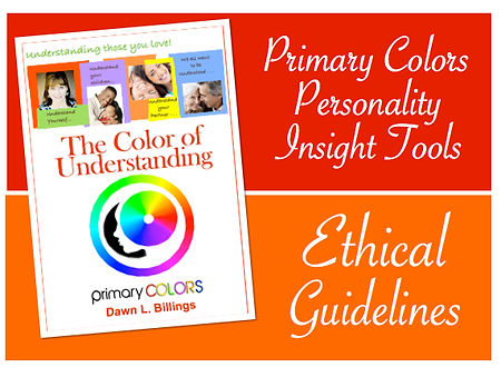 Ethical guidelines  colors personality test