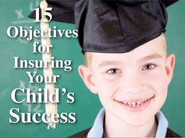 15 Objectives for Insuring Your Child's Developmental Success