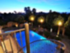 Executive Training Resort Pool at night