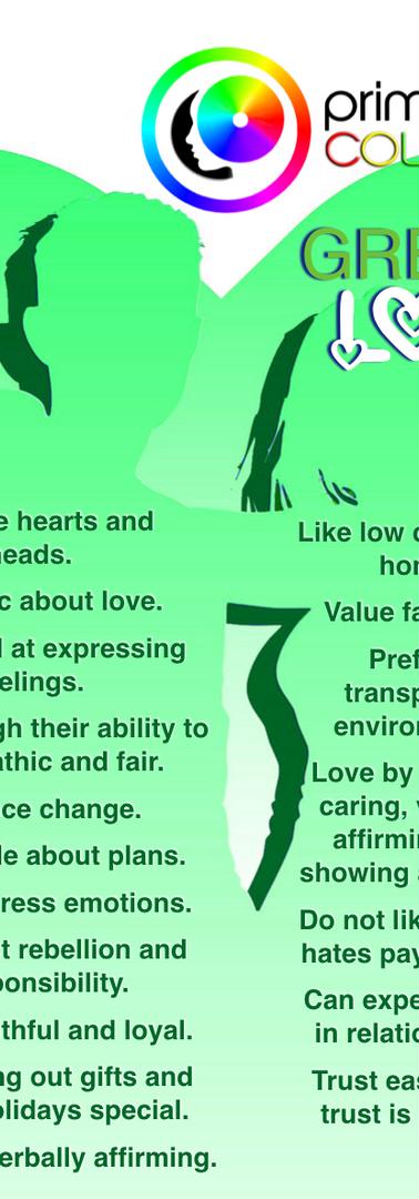 Green Color Personality Relational Tendencies