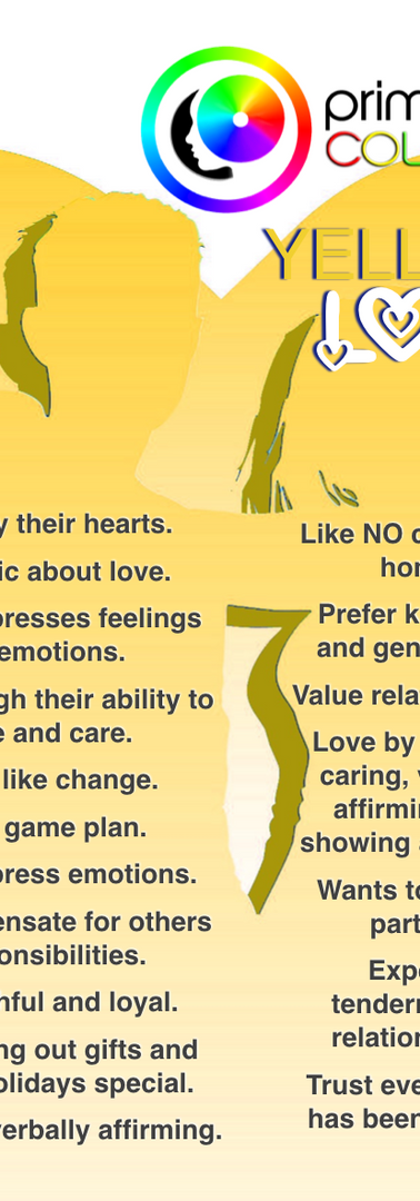 Yellow Color Personality Relational Tendencies
