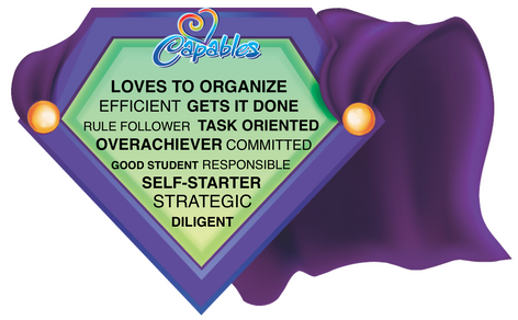 Purple cape with centered tendencies