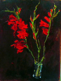 Red Gladioli IV