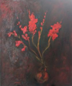Red Gladioli XII