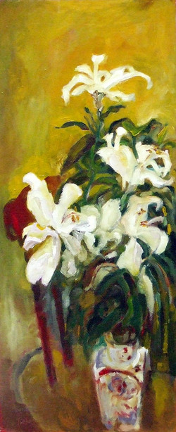 Lillies on Chair