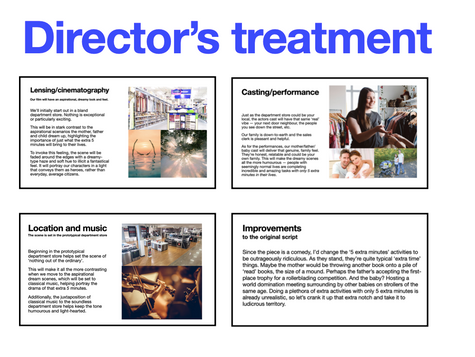 GE Appliances TVC Director's Treatment