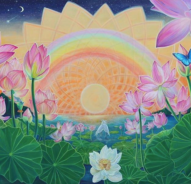 Sunrise on the Lotus Pond