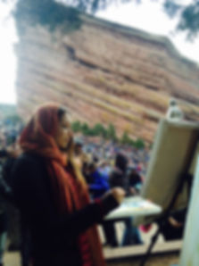 Joness Jones Live Painting at Red Rocks Amphitheater Morrison, Colorado