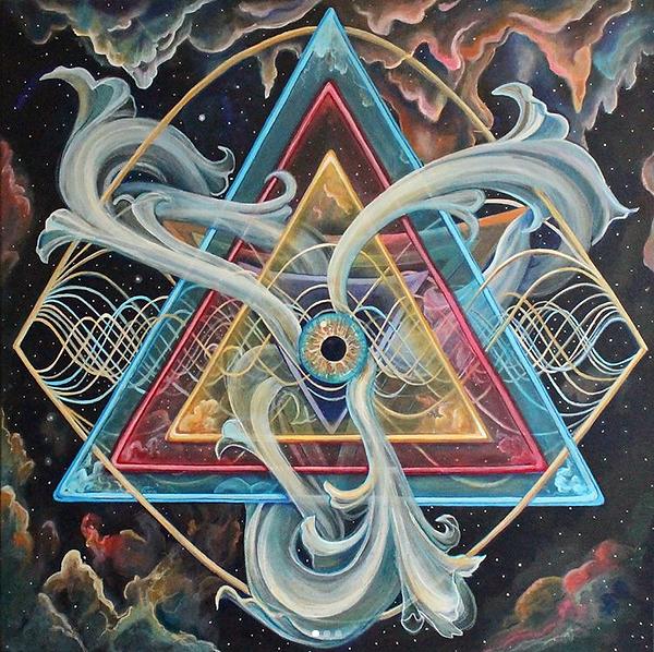 Primordial Sound Portal Joness Jones Visonary Art Psychedelic Sacred Geometry Painting