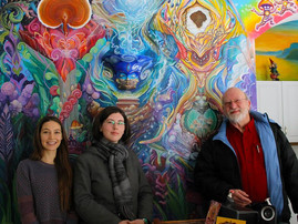 Mushroom Cafe Mural Visit