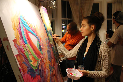 Joness Jones Live Painting at CoSM