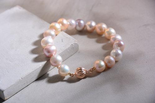 11mm Potato Pink FW Pearl Bracelet