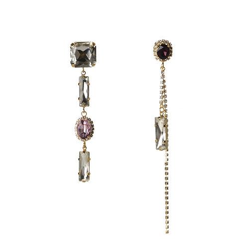 Elaborate Crystal AB Style Earrings