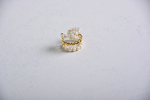 Pearl and Gold Ear Cuff - Small