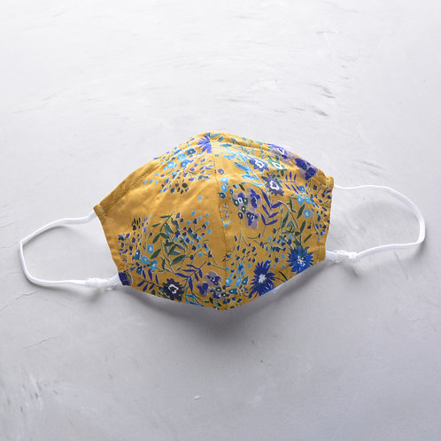 2-Layer Fabric Mask - Yellow Floral