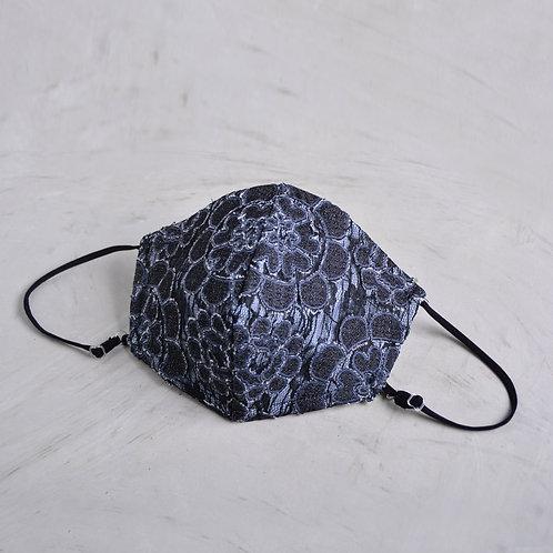 2-Layer Lace Mask - Justine Blue