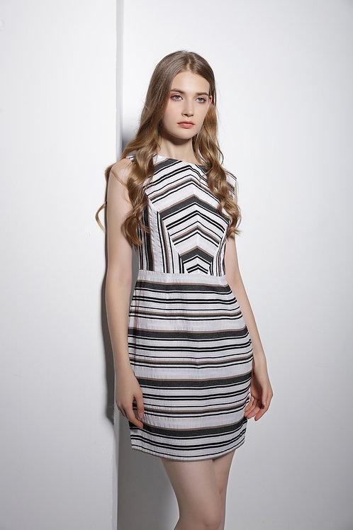 Blanche Illusion Stripe Dress