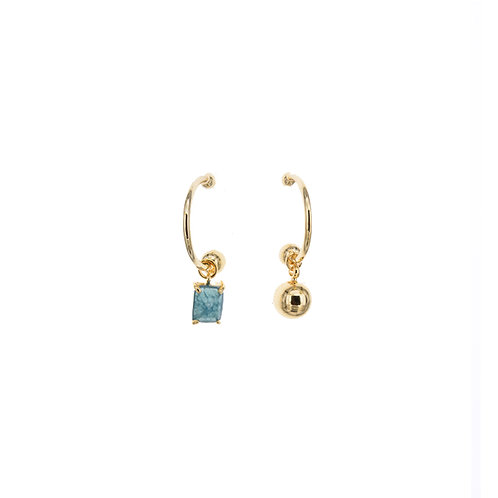 Crystal and a Pearl Earrings