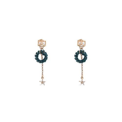 Star Square Circle Earrings